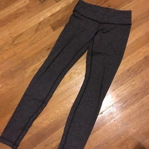 Lululemon grey coco pique leggings 6
